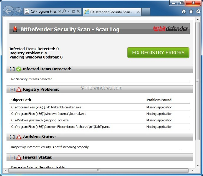 BitDefender Security Scan: Free Tool To Scan Windows For