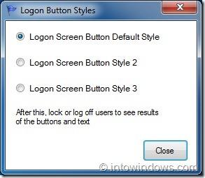 Change Logon Screen Button Style
