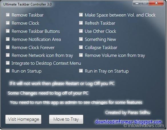 Ultimate Taskbar Controller For Windows 7