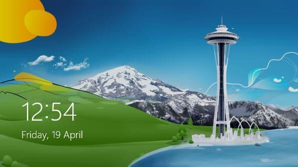 Windows 8 style date and lock on Windows 7 logon screen