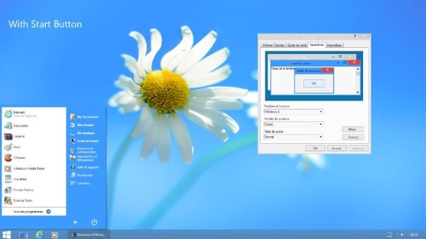 Windows 8 style visual style (theme) for Windows XP
