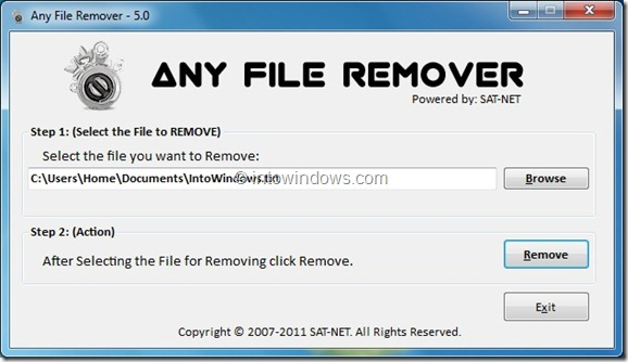 Any File Remover To Undeletable Files