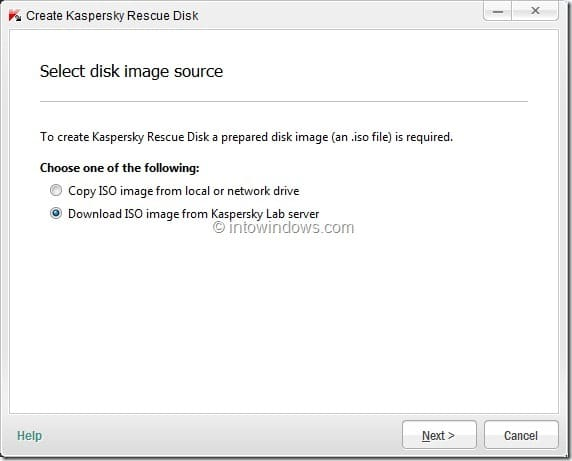 How To Create Kaspersky Rescue Disk USB Step3
