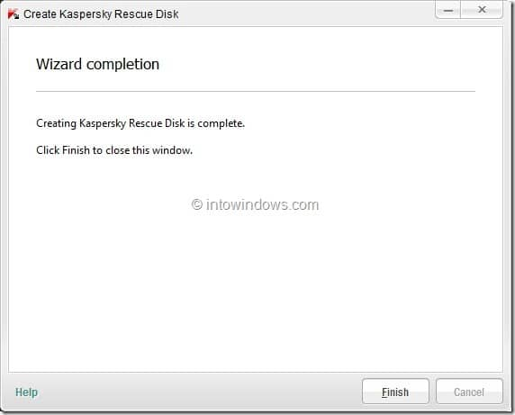 How To Create Kaspersky Rescue Disk USB Step9