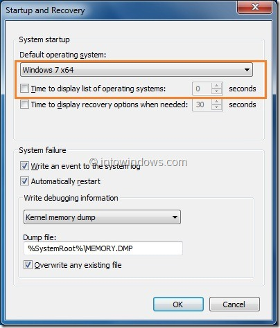 How To Hide or Skip Boot Manager In Vista and Windows 7 Step 5