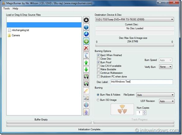 MagicBurner Free CD DVD Burning Solutoin for Windows