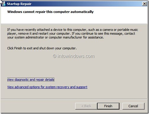 Repair Windows 7 Without Installation Media Step 2