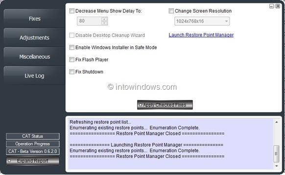 Reset Various Windows Settings
