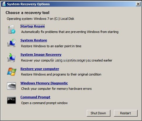 How To Repair Windows 7 Startup Issues Without Installation Media