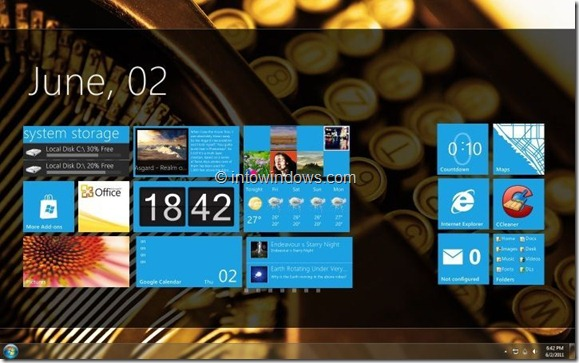 Windows 8 Tablet UI Start Screen Final