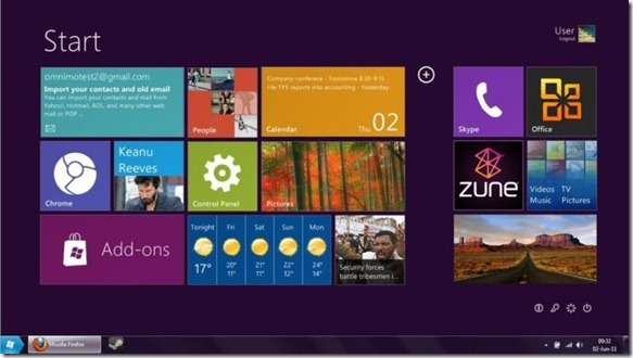 Windows 8 Tablet UI Start Screen for Windows  7