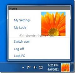 Windows 8 Taskbar User Picture
