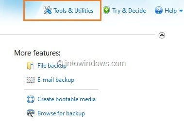 Boot Acronis True Image from USB Flash Drive Step1