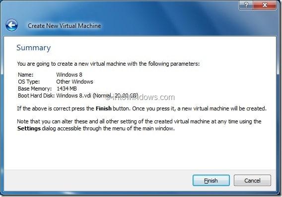 Install Windows 8 On VirtualBox Virtual Machine Step10
