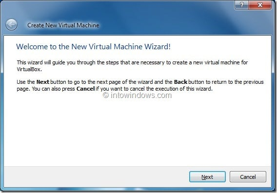 Install Windows 8 On VirtualBox Virtual Machine Step2