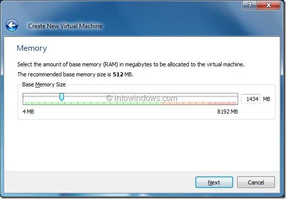 Install Windows 8 On VirtualBox Virtual Machine Step4