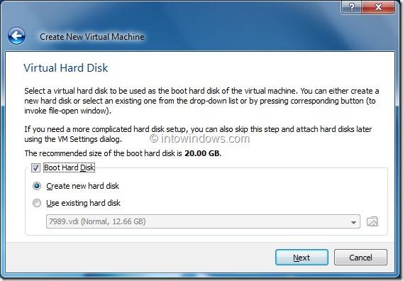 Install Windows 8 On VirtualBox Virtual Machine Step5