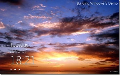Windows 8 Metro Clock Screen Saver For Windows 7