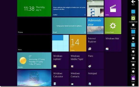 Windows 8 Start screen for Windows 7