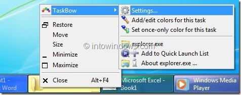 Add Colors To Windows 7 Taskbar Buttons