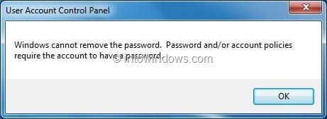 remove password windows7