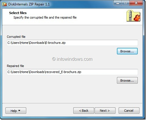 Repair Incompltely Downloaded ZIP File
