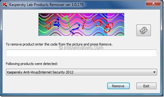 Uninstall Kaspersky Antivirus 2012