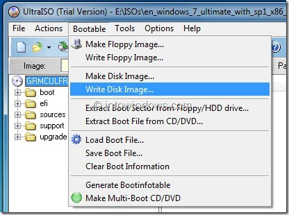 Use UltraISO To Make USB Bootable Step4