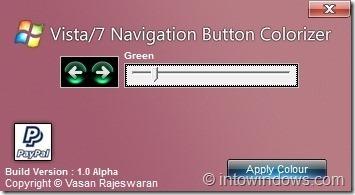 Windows 7 Navigation Button Colorizer