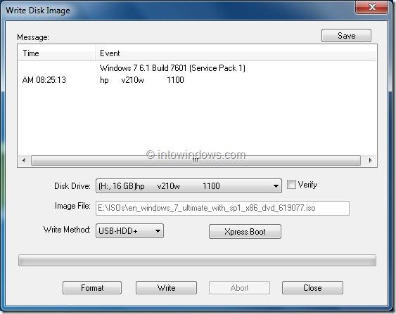 Write Disk Image