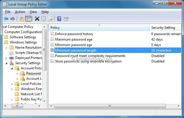 how to change the administrator password in windows 10
