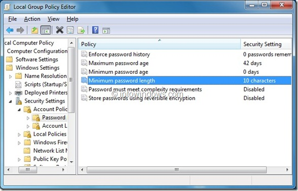 change admin account password in windows 7