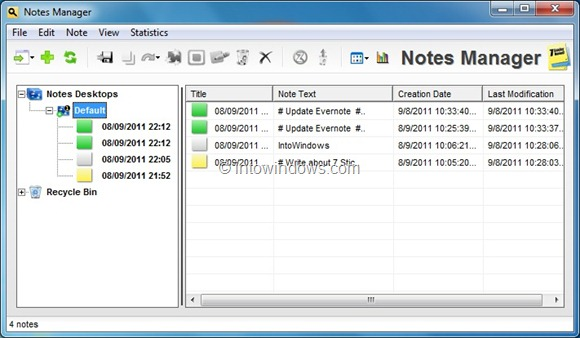 7 Sticky Notes Manager