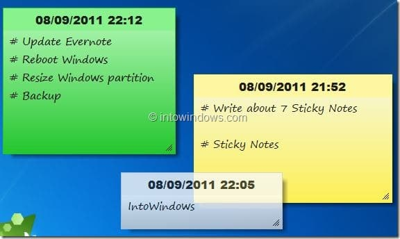 7 Sticky Notes for Windows