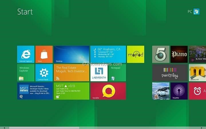 Change The Default Number Of Apps Rows In Windows 8 Start Screen