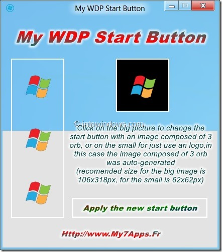 Change Windows 8 Start Button