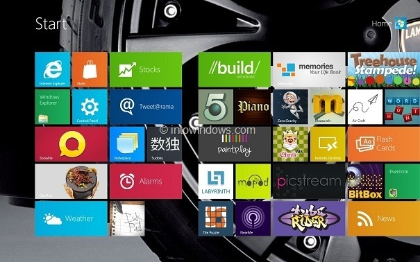 how to change windows 8 pro color