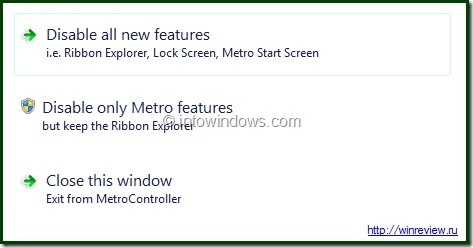 Disable Windows 8 Metro