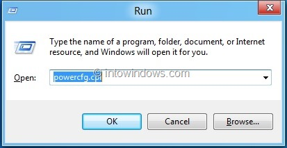 Enable Hibernate In Windows 8 Step 2