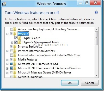 Enable Hyper-V In Windows 8 Step2