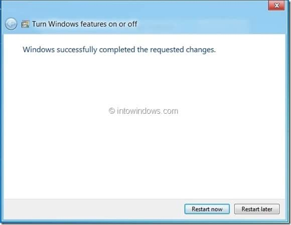 Enable Hyper-V In Windows 8 Step4