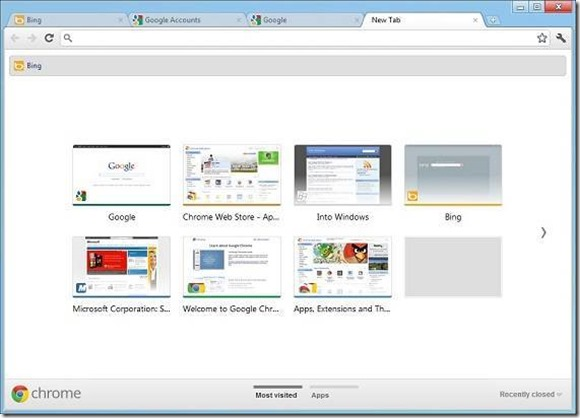 Google Chrome for Windows 8