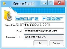 how to set password to a folder in windows 8