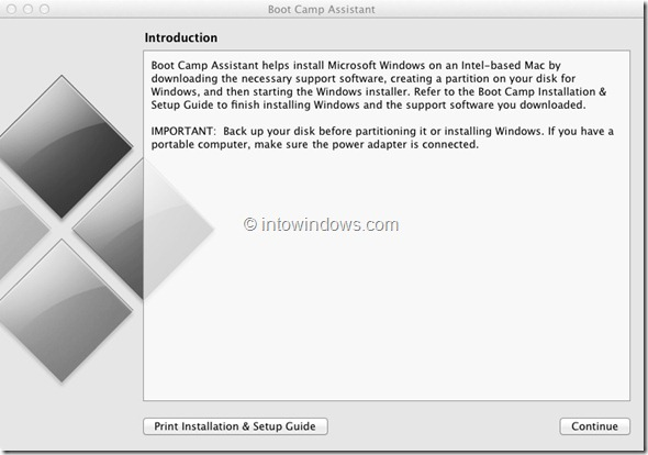 Install Windows 8 On Mac Step 1