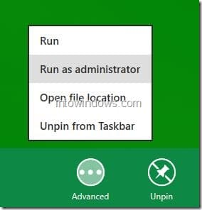 Run Program As Administrator In Windows 8