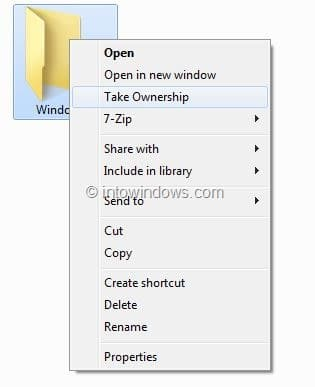 Take Ownership In Windows 8