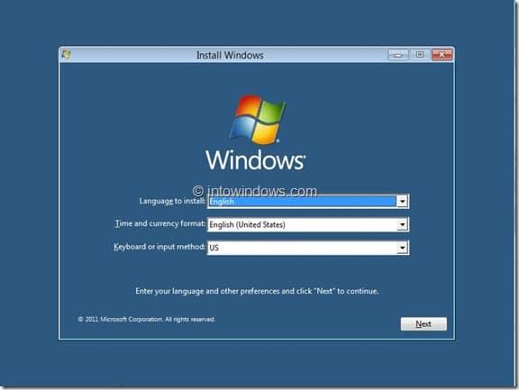 Windows 8 Installation Procedure Step2