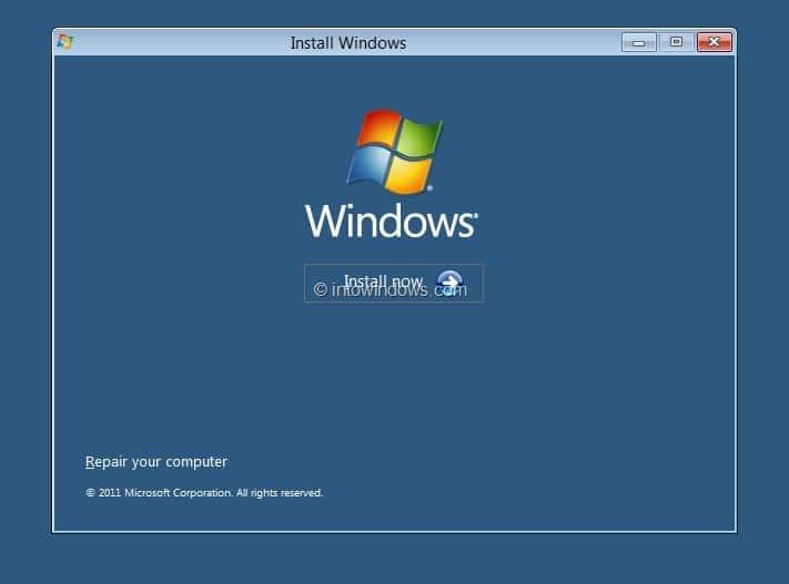 Starting a clean install of Microsoft Windows Vista