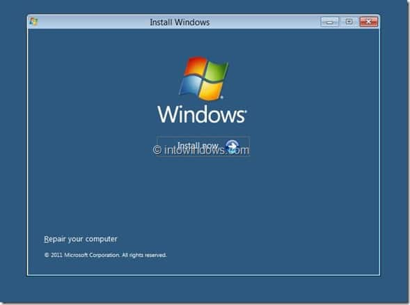 Windows 8 Installation Procedure Step3