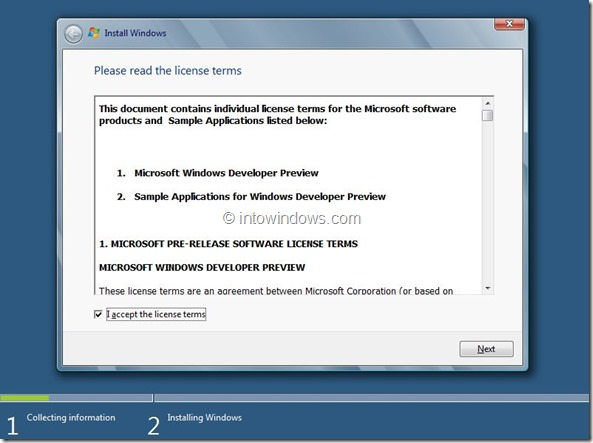 Windows 8 Installation Procedure Step5